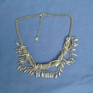 Edgy statement necklace with crystals
